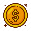 coin, currency, dollar, finance, money