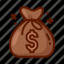 bag, bank, currency, finance, money, money bag