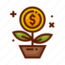 bank, business, currency, finance, growth, money icon