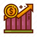statistic, finance, currency, money, analytic icon