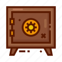 bank, currency, finance, money, safe, safe box icon