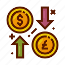currency, exchange, finance, money, rate icon