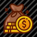 bag, bank, currency, finance, money, money bag icon