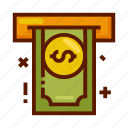 atm, bank, cashout, currency, finance, money icon
