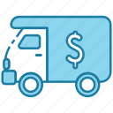 armored truck, truck, logistics, delivery