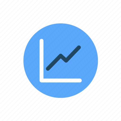chart, finance, graph, line graph, projection icon