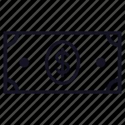 bill, dollar, finance, money icon
