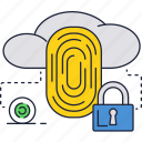 computer, fingerprint, lock, protection, scanner, security icon