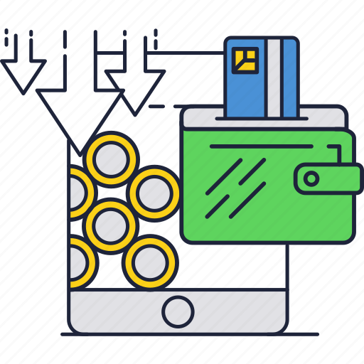 card, credit, mobile, money, online, phone, wallet icon