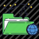 file, folder, internet, network, store icon