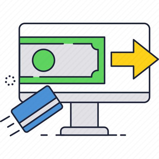 card, computer, internet, money, online, payment, transfer icon
