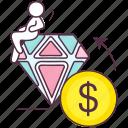 best quality, business quality, financial quality gemstone, premium quality icon