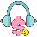 business services, business support, client support, customer support, financial communication icon