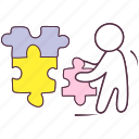 jigsaw, problem solution, puzzle, puzzle game, puzzle pieces icon