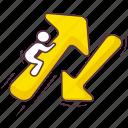 arrowhead, directional arrow, double arrow, downward arrow, indication arrow, upward arrow icon