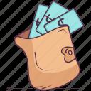 cash pouch, cash wallet, money purse, money wallet, payment wallet icon