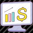 business analytics, business infographic, financial analytics, financial graph, polyline trend icon