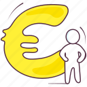 currency, euro sign, euro symbol, finance symbol, roman currency icon