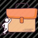 attache case, business briefcase, handbag, portfolio, suitcase icon