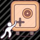 bank locker, closet, digital safe, locker, safety locker, vault icon