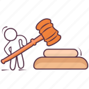 auction, gavel, judgement, justice, law icon