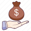 capital, currency sack, dollar sack, money bag, money sack, wealth icon