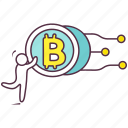 bitcoin, blockchain, btc, cryptocurrency, virtual currency icon