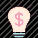bright idea, business idea, creative idea, finance idea, idea symbol, innovation icon