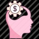 brain development, brainstorming, creative brain, creative thinking, thinking process icon