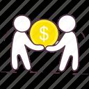 businessmen, businesspersons, capitalist, shareholders, stakeholder icon