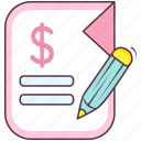 business file, business report, document, finance paper, finance report icon