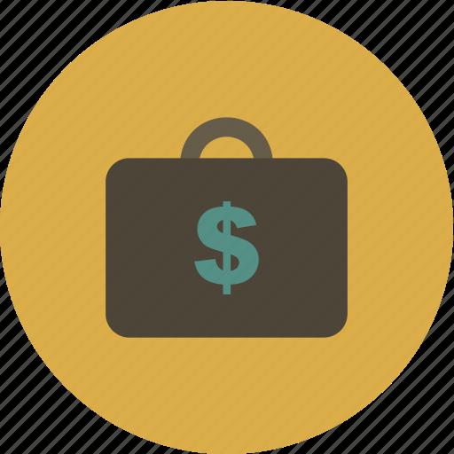 business, dollar, finance, money, portfolio icon