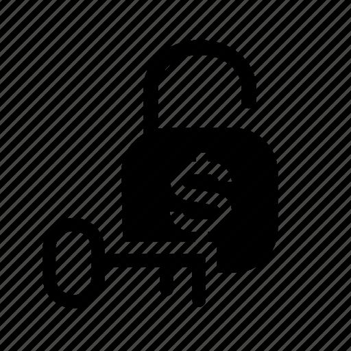 finance, money, money protection, money unlock, unlock icon