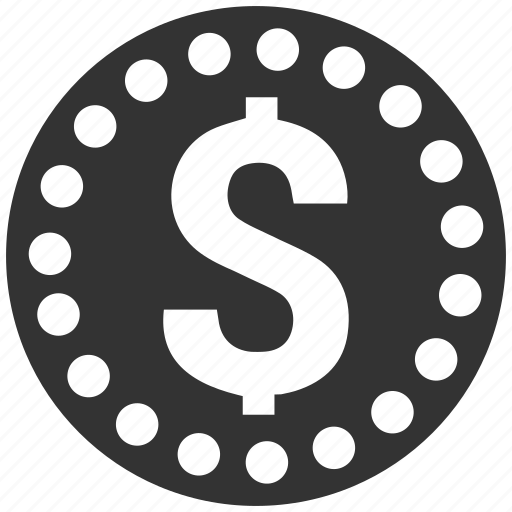 coin, dollar icon