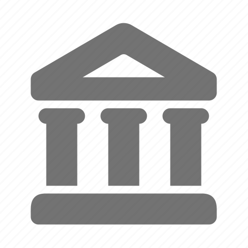 bank, building, business, courthouse, finance, museum, treasury icon