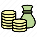 bag, cash, coin, money