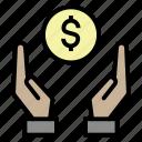 coin, earn, income, money