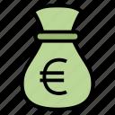 bag, cash, euro, money icon
