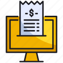 invoice, online, shopping icon