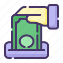 accounting, banking, business, charity, currency, finance, money icon