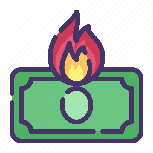 accounting, banking, business, currency, finance, hot money, money icon