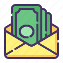 accounting, banking, business, currency, finance, money, send money icon