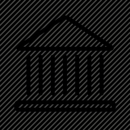 bank, building, finance, major, money icon