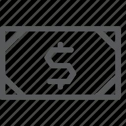 bank, bills, cash, currency, dollar, finance, money, note icon