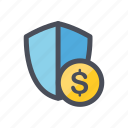 business, calculate, coin, finance, graph, money icon
