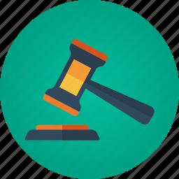 auction, auction hammer, bid, bidding, gavel, hammer icon