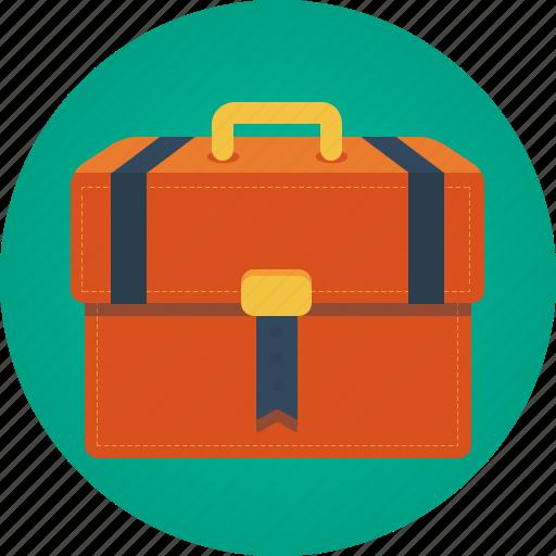 attaché, bag, baggage, briefcase, case, valise icon
