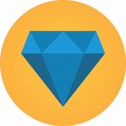 diamond, gemstone, precious stone, rich icon