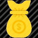 bag, dollar, money