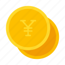 coin, currency, money, yen
